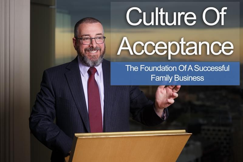 David Werdiger Organizational Culture of Acceptance